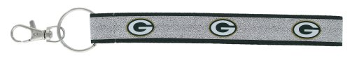 aminco NFL Green Bay Packers Sparkle Wristlet Key Ring