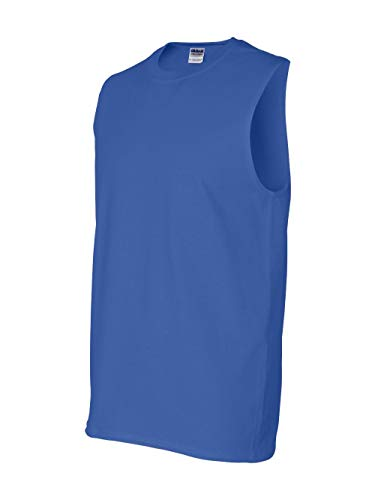 Gildan Mens 6.1 oz. Ultra Cotton Sleeveless T-Shirt G270 -ROYAL L