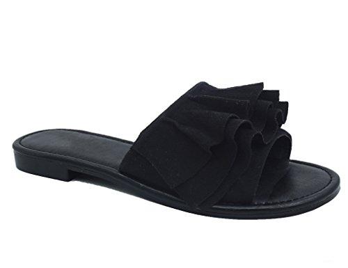 MaxMuxun Donna Pantofole Sandali Nero MaxMuxun Sandali Z5wxOYUO