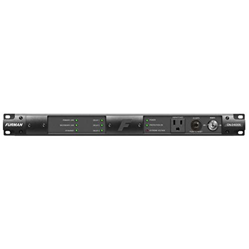 Furman Sound Contractor Series CN-2400S 1RU 20 Amp Bidirectional SmartSequencer with SMP, EVS, 9 Outlets, 10' AC ()
