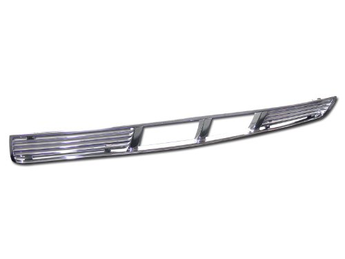 CHROME HORIZONTAL GT-TYPE FRONT LOWER BUMPER GRILL GRILLE COVER 05-09 MUSTANG V6