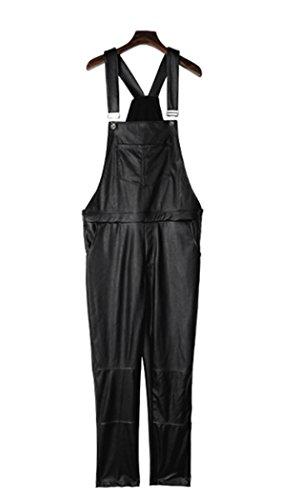 Leather Bib Overalls - 1
