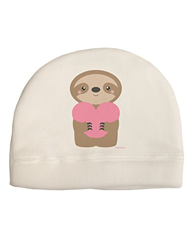 Tooloud Cute Valentine Sloth Holding Heart Adult Fleece Beanie Cap Hat -