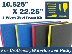 5S TOOL BOX SHADOW FOAM ORGANIZERS ( 2 COLOR) FITS CRAFTSMAN WATERLOO and HUSKY TOOL CHESTS (10.625
