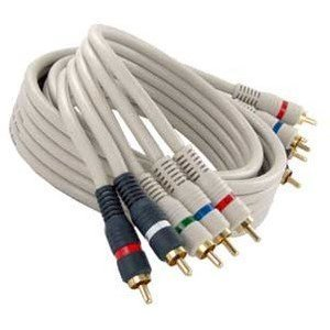 Steren 254-612IV Python Component Video Cable - RCA Male - RCA Male - 12ft - Ivory