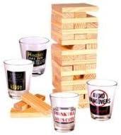 Culto sala Jenga como fiesta juego de beber - Tipsy Tower: Amazon.es: Hogar