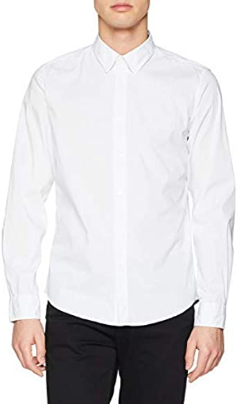 Springfield 5DS Dayly Strech Print Camisa Casual, Blanco ...