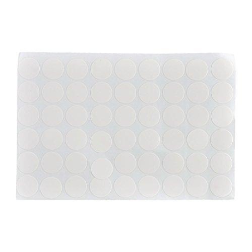 eDealMax plastique 21mm Dia Meubles auto-adhésifs autocollants vis trou mat 54 en 1 blanc