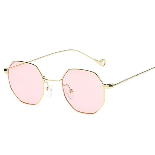 Unisexe lunette de Aux femmes Mode classiques en de Lunette IMJONO irrégularité Pink métal Soleil Lunettes de en soleil Hommes Lunettes Marque rwI5rqv