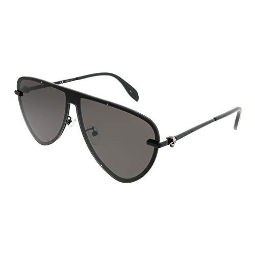 Alexander Mcqueen Mens - Alexander McQueen AM0157SA 001 Black/Grey AM0157SA Pilot Sunglasses Lens Cate