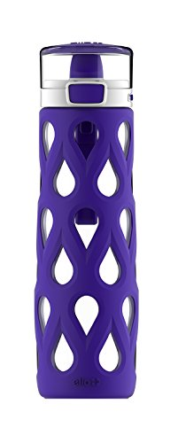 Water Duffel Insulated - Ello Gemma 22oz Glass Water Bottle with Soft Straw (Violet Ice)
