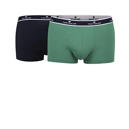 TOM TAILOR Herren Hip Pants grün Melange 2er Pack