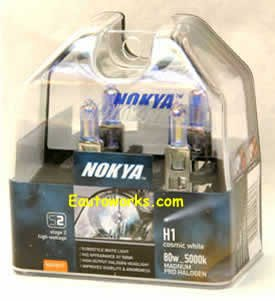 Nokya Magnum Cosmic White H1 5000K Light Bulbs (H1 Lightbulbs compare prices)