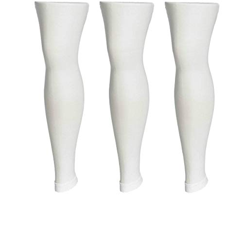3-Pack Girls Microfiber White Footless Tights 4-6 -