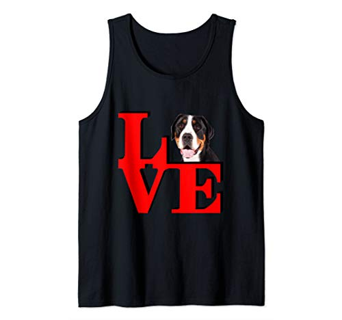 My Greater Swiss Mountain Dog Love Park  Tank Top