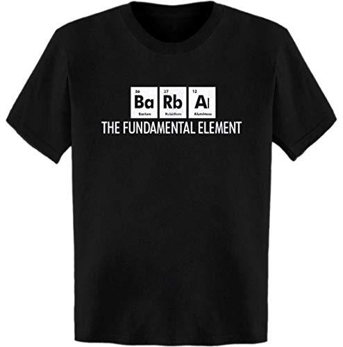 Barba The Fundamental Element Periodic Table T-Shirt Black
