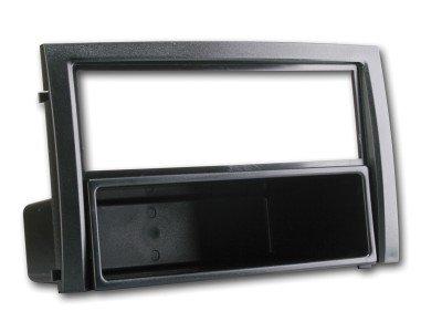 Radioblende f/ür Skoda Fabia 2003-06 VW Polo 9N 2-DIN mit Fach schwarz Autoradio Blende Einbaurahmen