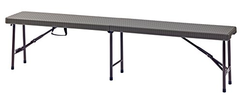 Sandusky Lee FPB6FT-BR Folding Portable Plastic Indoor/Outdoor Picnic Bench, 6'', 17'' Height, 72'' Width, 11.8'' Length, Brown by Sandusky