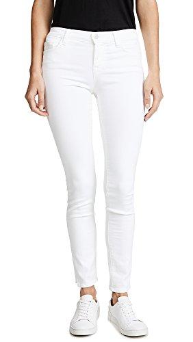 J Brand Jeans Women's 811 Mid Rise Skinny Jeans, Blanc, 27