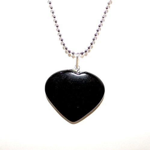 (M'VIR Black Tourmaline Tumbled Stone Necklace Healing Chakra Balancing October Birthstone Powerfull Protective Stone)