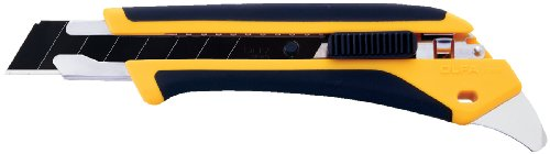 OLFA 1072198 LA-X 18mm Fiberglass Rubber Grip Heavy-Duty Utility Knife ()