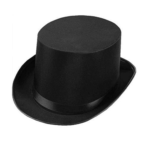 Jacobson Hat Company Men's Permasilk Top Hat (5 Inch Tall), Black, Adult -