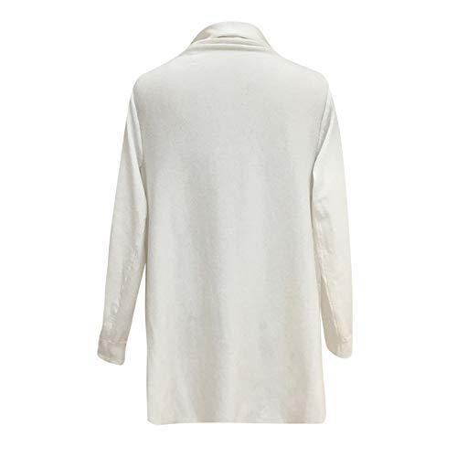 en LANSKIRT Cardigan Tricot Unie Franges Femmes sexy Femme Chemisier Blanc Grande femme Pull Taille Pull Manteau chale irrgulier Pull Mode Couleur Femme de Manteau HUxH7qr