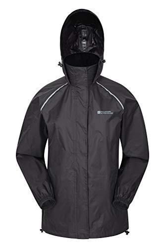 Mountain Warehouse Pakka Womens Jacket – Waterproof Rain Coat Black 10