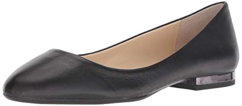 Jessica Simpson Women's GINLY Ballet Flat, Black, 5.5 M US