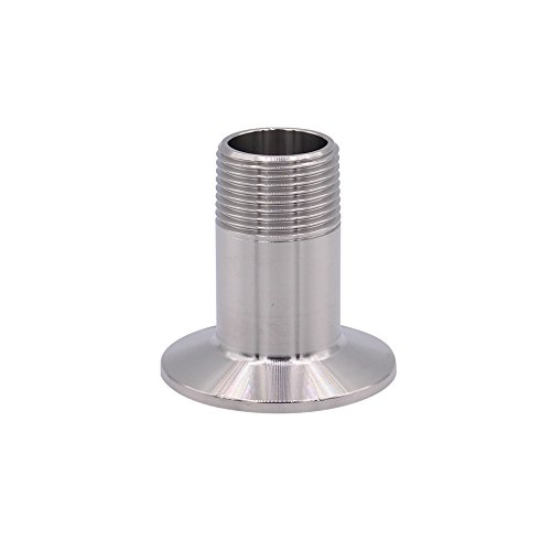 Dernord Sanitary Male Threaded Pipe Fitting to TRI CLAMP (OD 50.5mm Ferrule) (Pipe Size: 1/2 NPT)