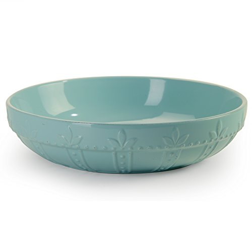 Signature Housewares Sorrento Collection Large Pasta Bowl, 12-Inch, Aqua Collection Large Bowl