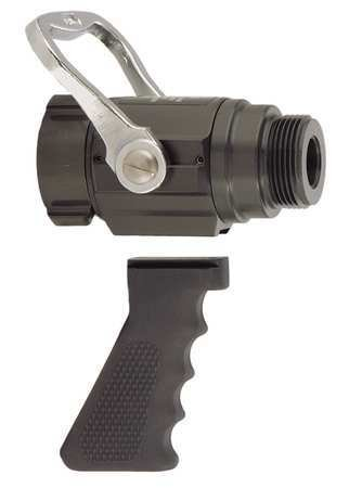 Fire Hose Nozzle, 1-1/2 In., Black by Elkhart Brass
