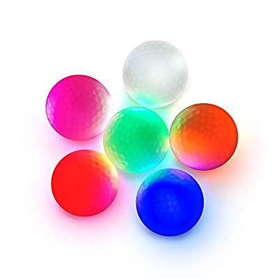 MVTIX Luminous Night Golf Balls for Practice | Ultra Bright LED Glow Golf Ball for Night Sports | Easy to Find in Dark | Nice Night Golf Supplies | Dupont SURLYN Surface | 75% Elasticity | 392 Dim