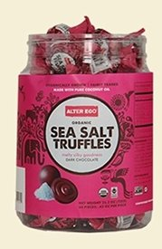 Alter Eco Americas Organic Truffles, Sea Salt. 60 Count