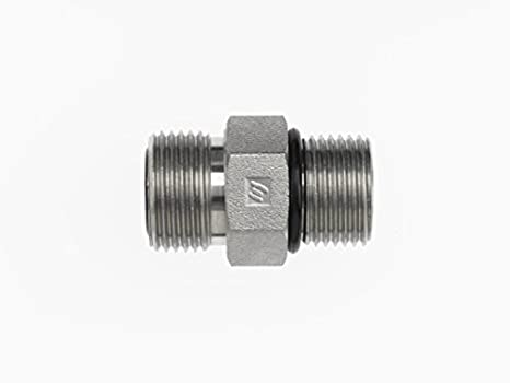 3//8 Male Face Seal x 3//8 Male Adjustable O-Ring Boss 11//16-16 NPT x 3//4-16 NPT Thread Brennan Industries FS6801-06-08-NWO-FG Forged Steel 90 Degree Elbow O-Ring Face Seal Fitting