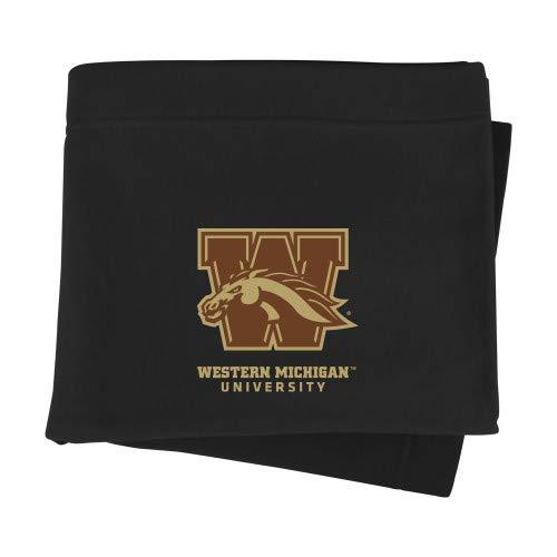 CollegeFanGear Western Michigan Black Sweatshirt Blanket 'Official Logo'
