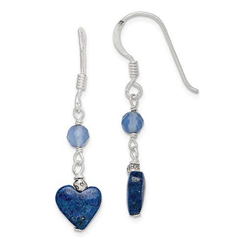 925 Sterling Silver Lapis/blue Agate Drop Dangle Chandelier Earrings Fine Jewelry Gifts For Women For Her