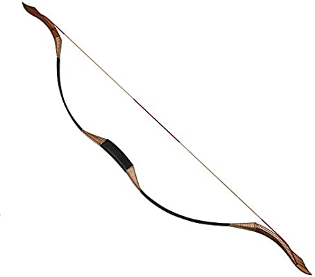 amazon com toparchery traditional recurve bow 53\u0027\u0027 archery huntingtoparchery traditional recurve bow 53\u0027\u0027 archery hunting handmade horse bow longbow