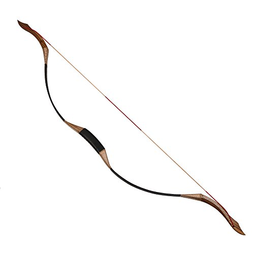 "Toparchery Traditional Recurve Bow 53"" Archery Hunting Handmade Horse bow Longbow 30-50 lbs"