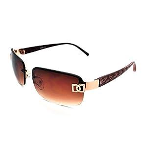 Vox Sunglasses for Women Designer Rimless Rectangular Petite Fashion Eyewear Free Microfiber Pouch