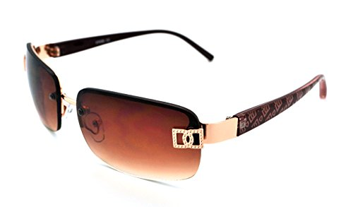 Vox Sunglasses for Women Designer Rimless Rectangular Petite Fashion Eyewear Free Microfiber - Versace Latest