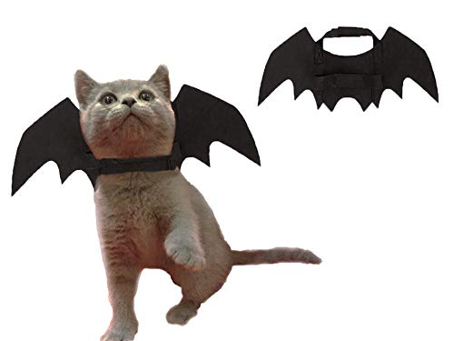 LeRich Cat Costume Halloween Pet Bat Wings Cat Dog Costume,Cute Puppy Cat Dress Up Accessories]()