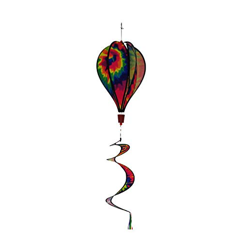 - Produtos Profissionais de Elite 16-Inch 6-Panel Tie Dye Hot Air Balloon Wind Spinner with 30-Inch Tails