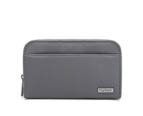 Myabetic Banting Diabetes Supply Case for Glucose Monitoring System, Insulin Pens, Insulin Vials, Test Strips, etc. (Charcoal) ()