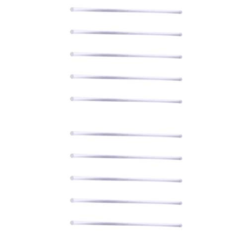 (Prettyia Pack of 10 Acrylic Rods Clear 250mm Long DIY Space Diorama Handcrafts)