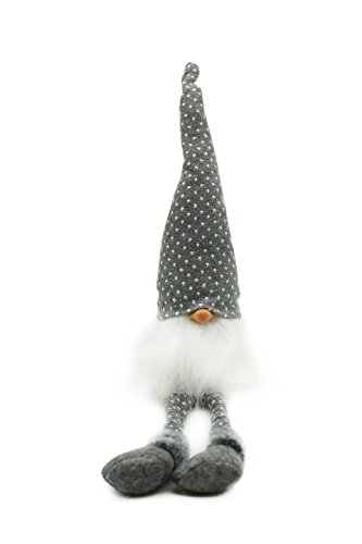 Handmade Swedish Adorable Tomte,Santa - Scandinavian Gnome Plush- Valentine's Day Gifts Birthday Gifts - Home Ornaments Home Decoration,Grey