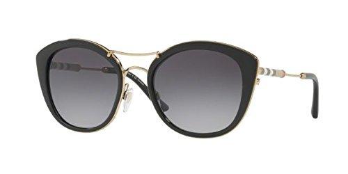BURBERRY Damen Sonnenbrille 0BE4251Q 3001T3, Schwarz (Black/Polargreygradient), 53