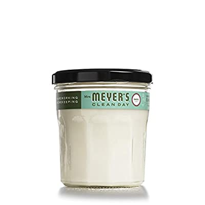 Mrs. Meyer's Clean Day Scented Soy Candle, Basil Scent, 7.2 ounce candle