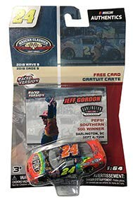 NASCAR Authentics Jeff Gordon #24 Diecast Car 1/64 Scale - 2018 Wave 9 with Collector Card - NASCAR Classics - Collectible