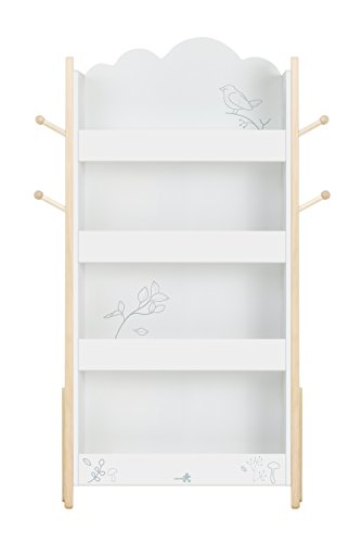 lay, Wood White Bookshelf for Kid 1 Year up, Kid Bookshelf White/Baby Bookshelf/Child Bookshelf/White Bookshelf for Girl&Boy Room/Bookshelf White/Kid Book Rack/Child Book Storage ()